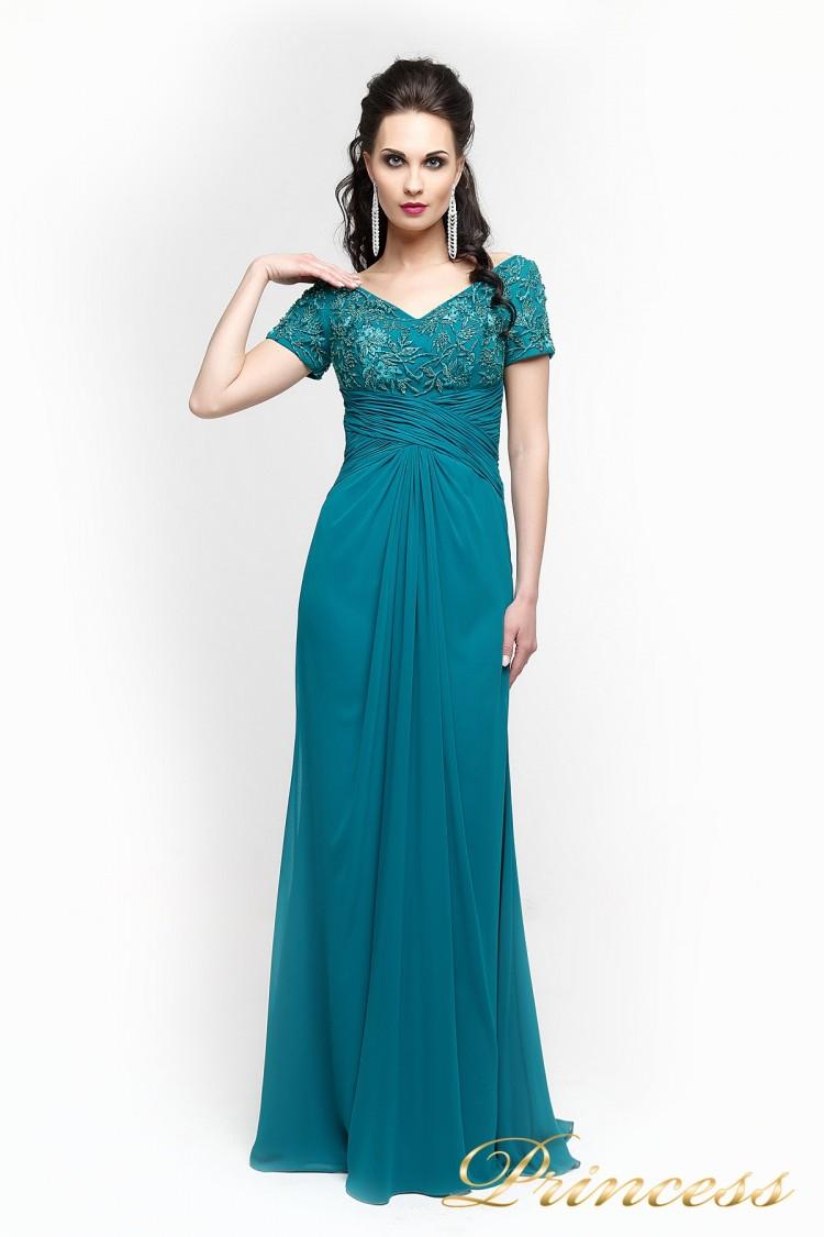Вечернее платье 140951 зеленого цвета