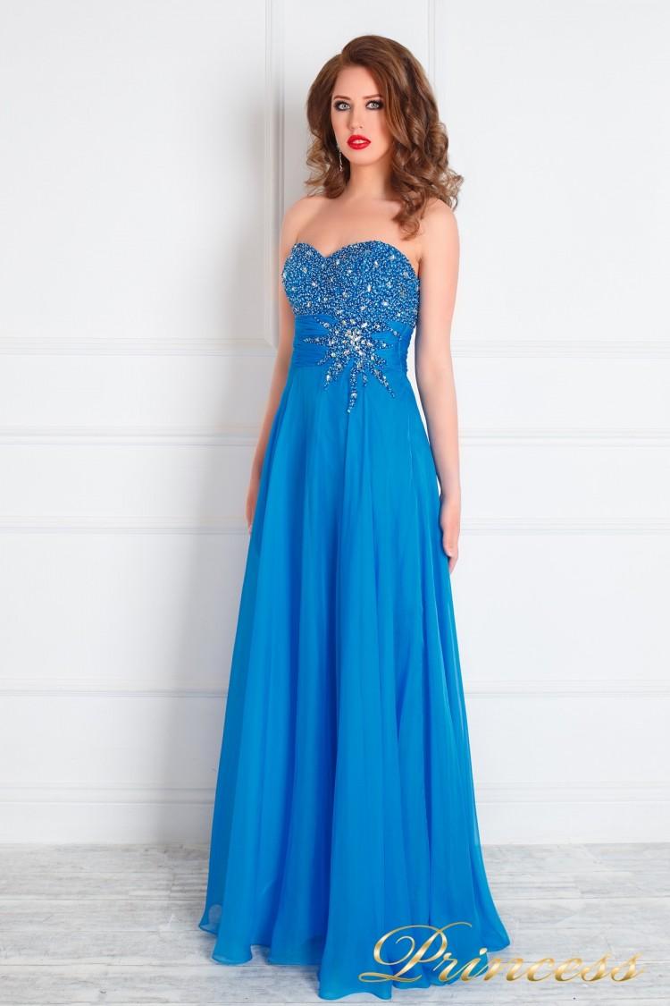 Вечернее платье 143 голубого цвета