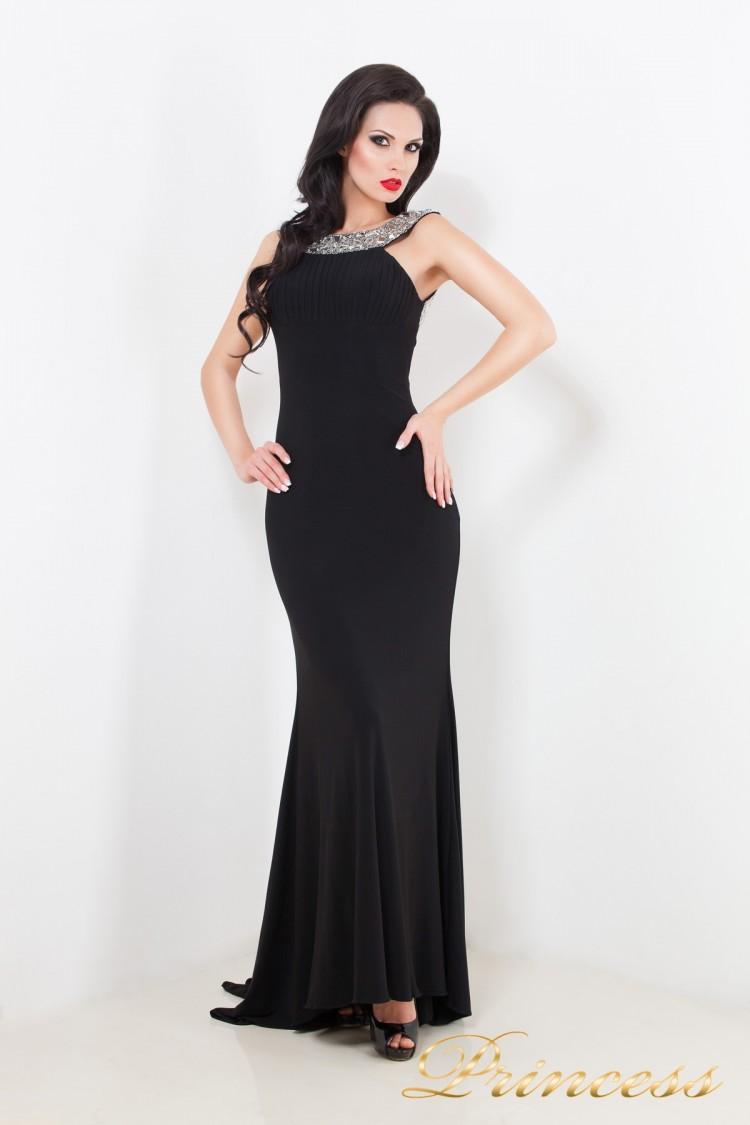 Вечернее платье 1453 B чёрного цвета
