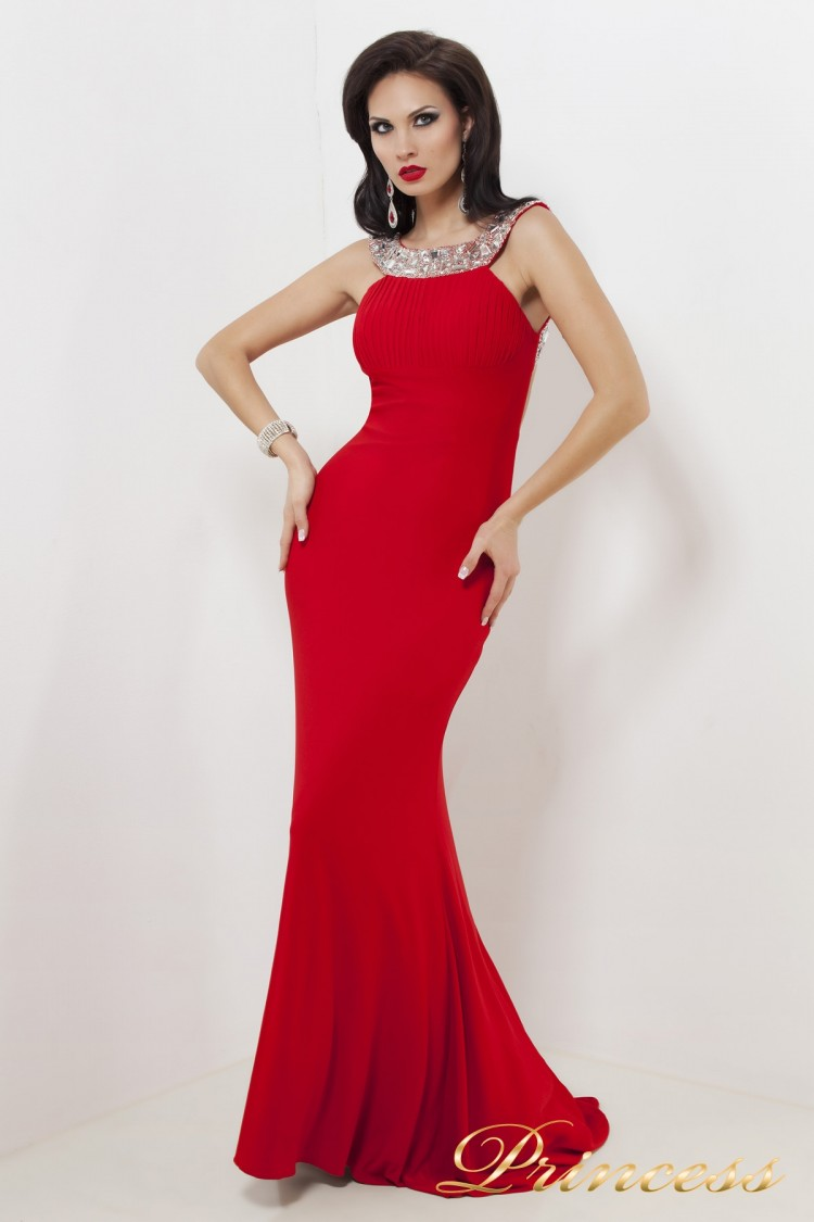 Вечернее платье 1453 R красного цвета