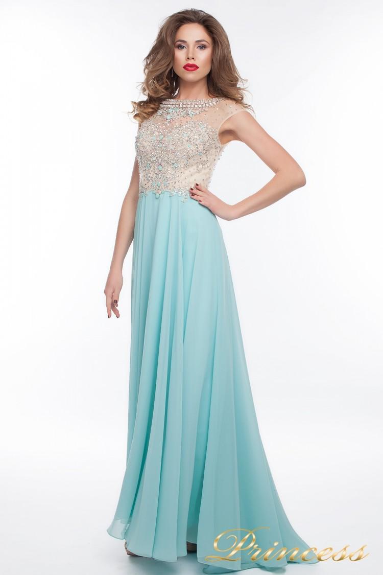 Вечернее платье 150009_blue голубого цвета