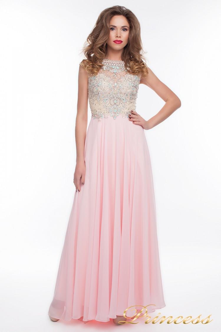 Вечернее платье 150009_pink розового цвета