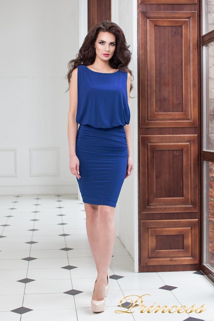 Коктейльное платье 15003 royal цвета электрик