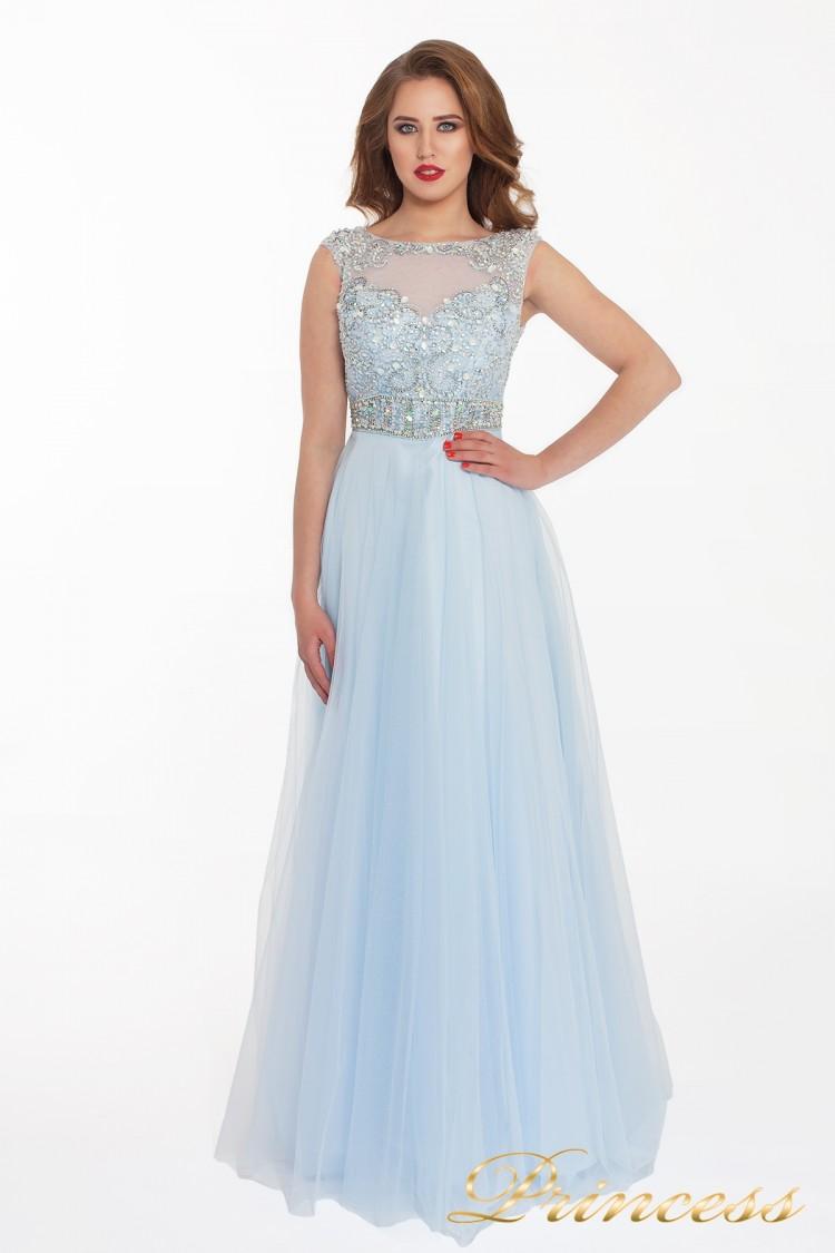 Вечернее платье 150190 blue голубого цвета