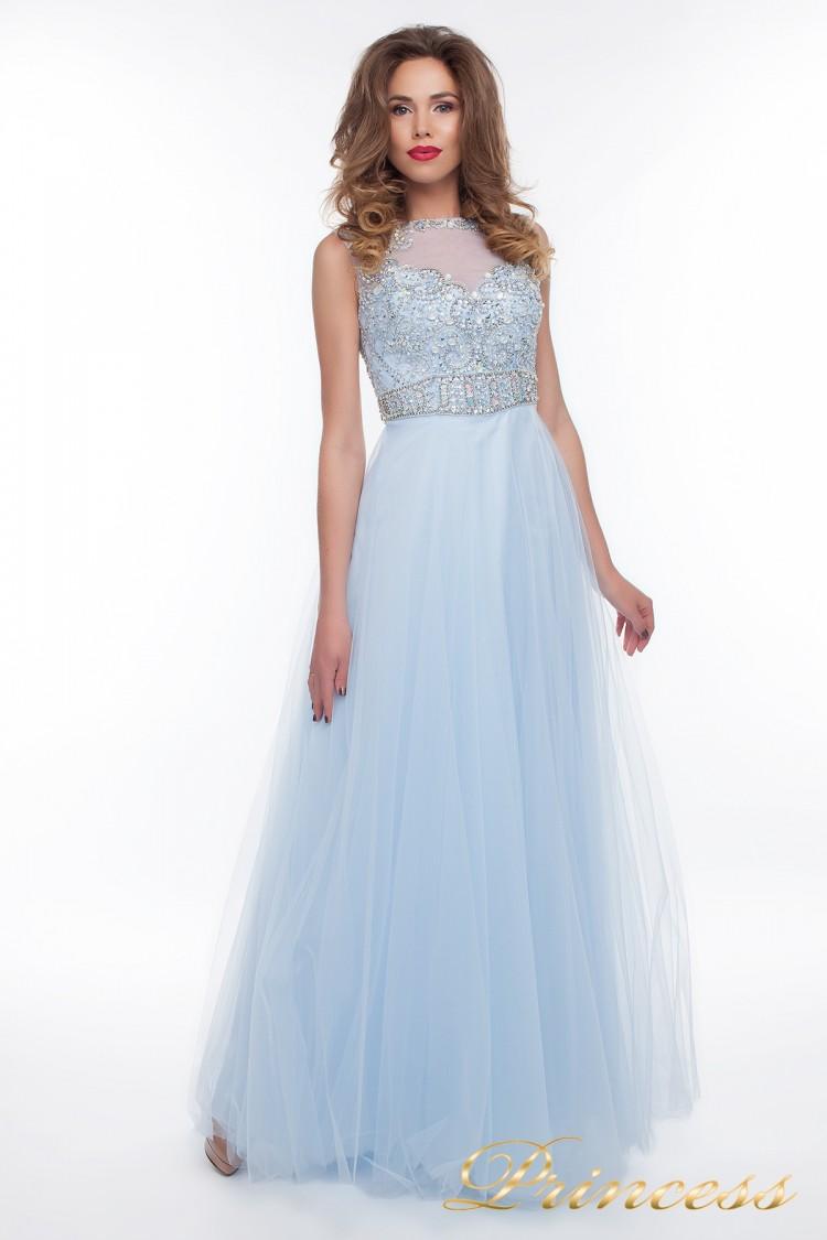 Вечернее платье 150190_blue голубого цвета
