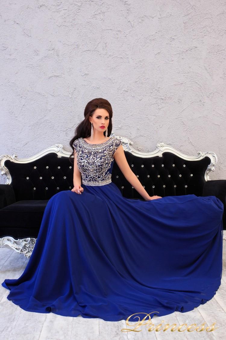 Вечернее платье 151232 синего цвета