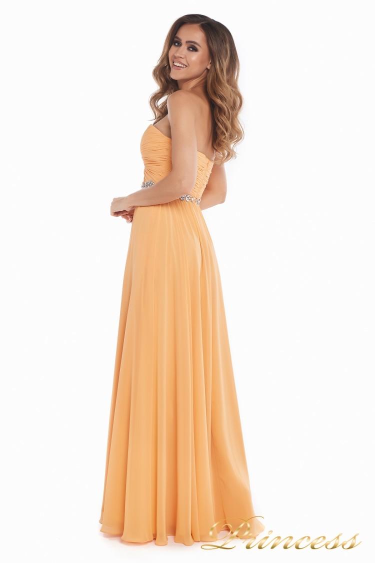 2882a37671f Купить вечернее платье 159764p персикового цвета по цене 20500 руб ...