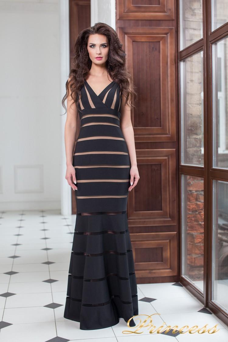 Вечернее платье 16003 black чёрного цвета