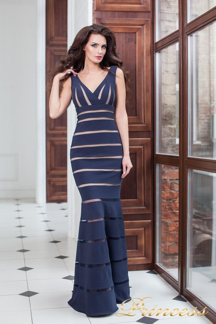 Вечернее платье 16003 navy синего цвета
