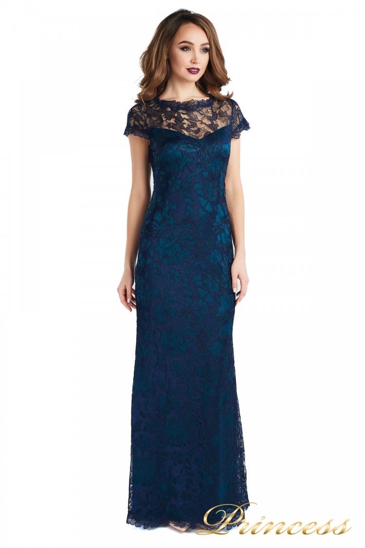 Вечернее платье 1628 dark-navy синего цвета