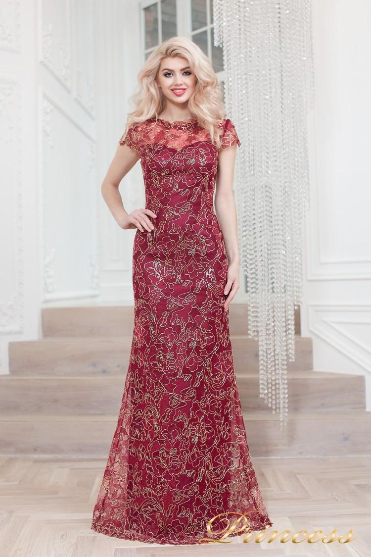 Вечернее платье 1628 wine gold красного цвета