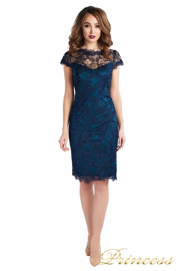 Коктейльное платье 1645 dark-navy синего цвета