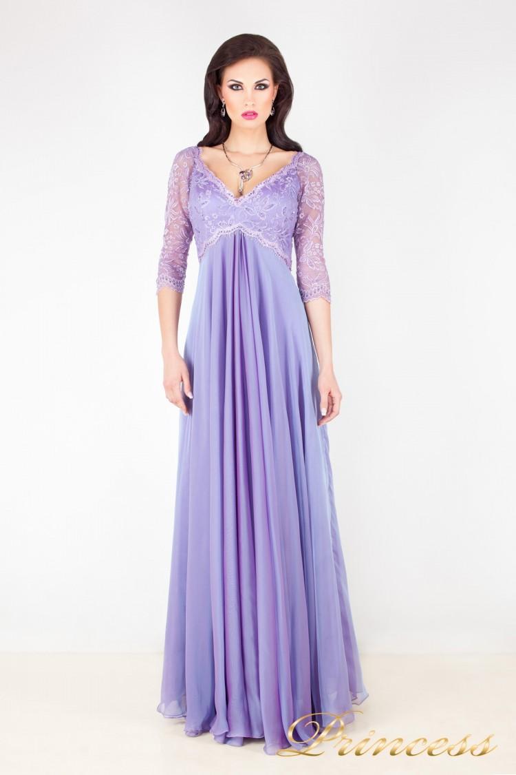 Вечернее платье 1679 фиолетового цвета
