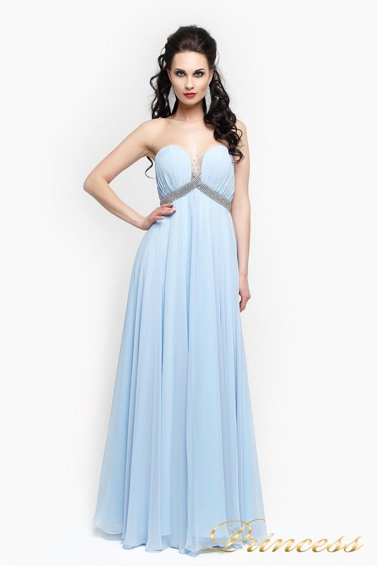 Вечернее платье 167 голубого цвета