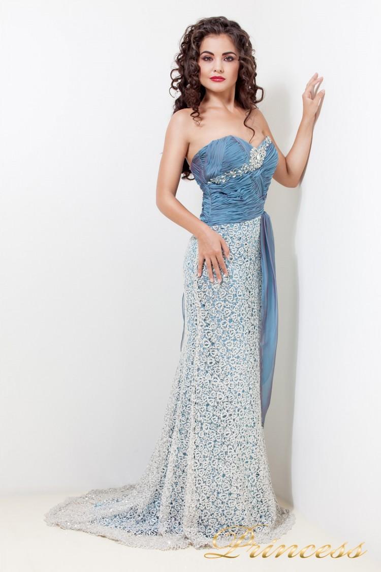 Вечернее платье 1697 синего цвета