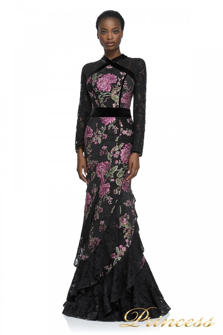 Вечернее платье Tadashi Shoji AYR17739L BLACK чёрного цвета