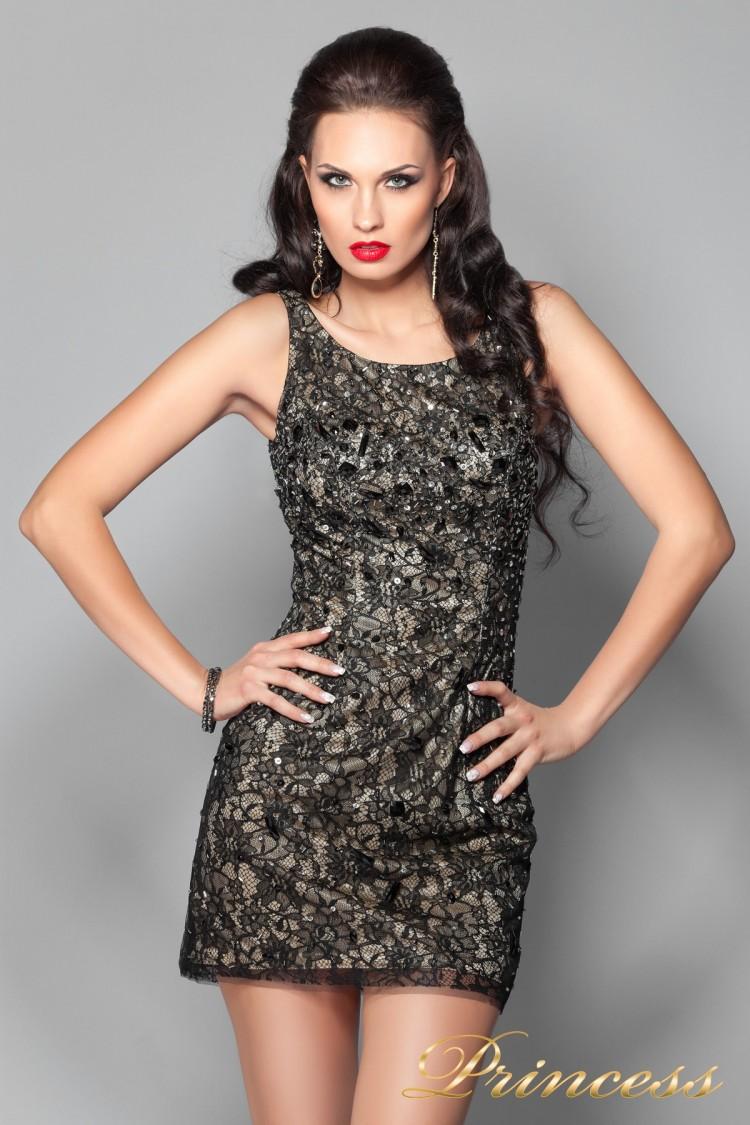 Коктейльное платье 171740 чёрного цвета