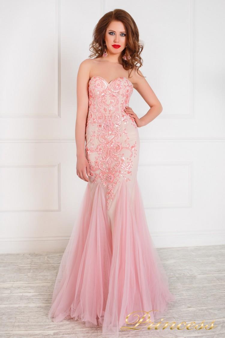 Вечернее платье 172 розового цвета