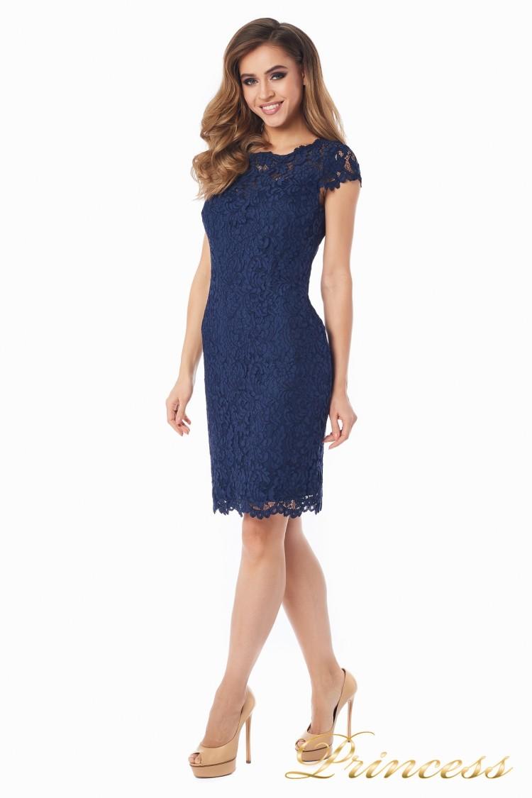 Коктейльное платье 1745 navy синего цвета