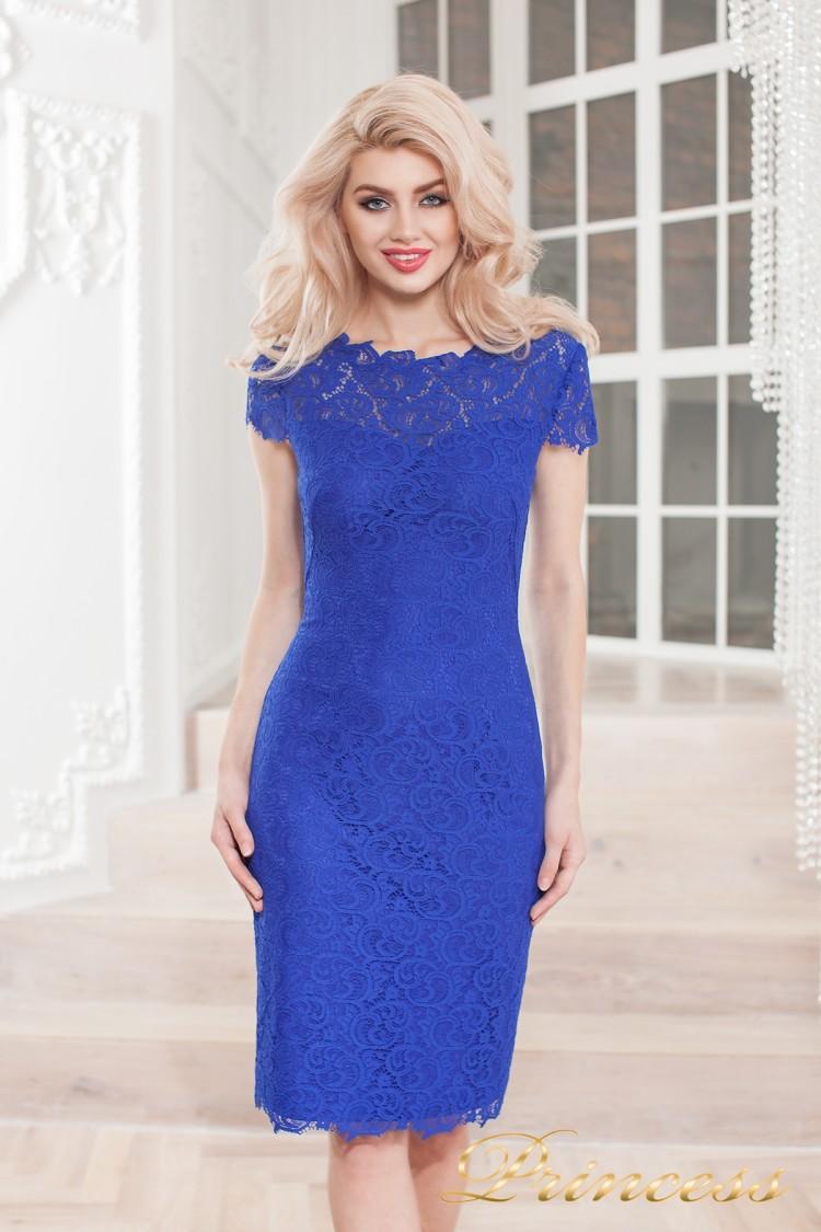 Коктейльное платье 1745 royal цвета электрик