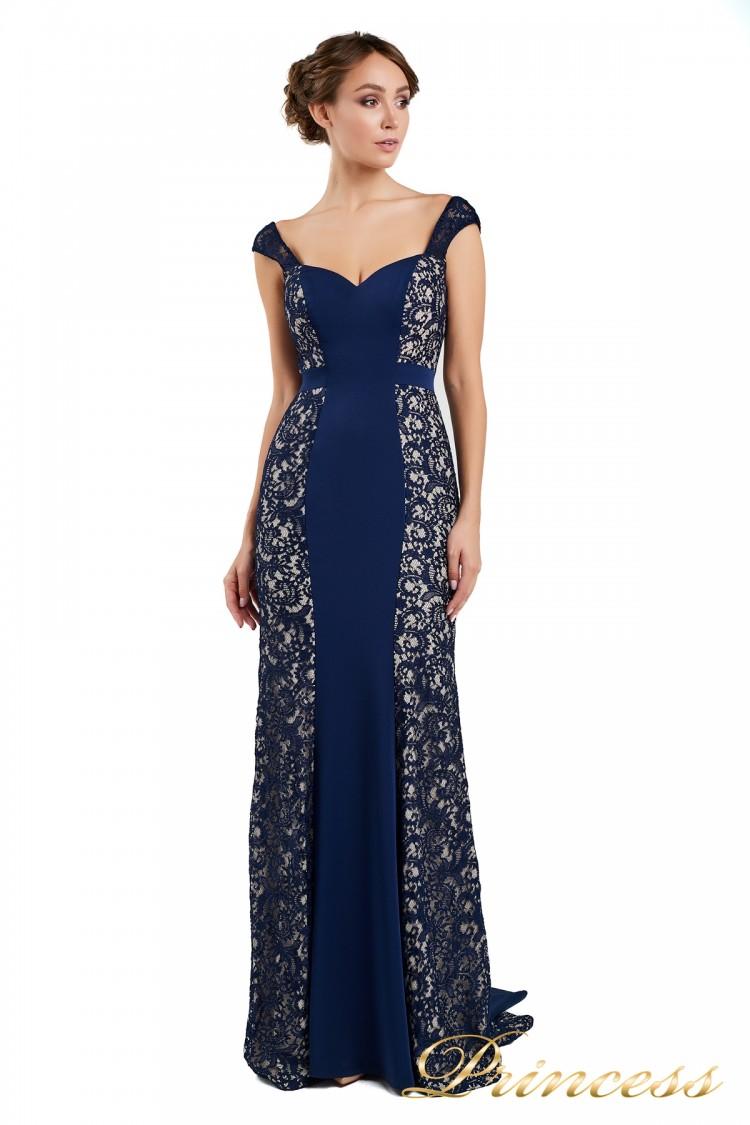 Вечернее платье 1772 navy синего цвета