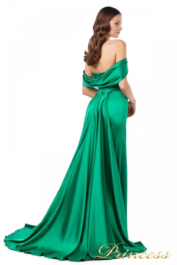 Вечернее платье 18070 green зеленого цвета