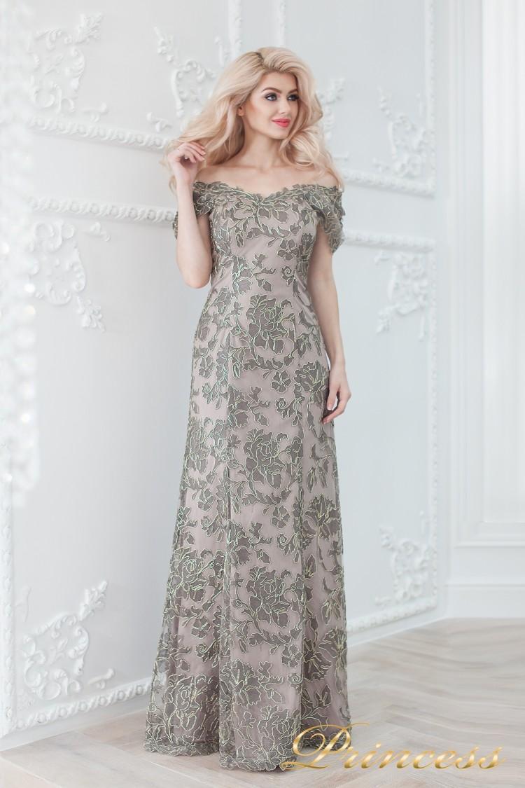 Вечернее платье 1836 grey серого цвета