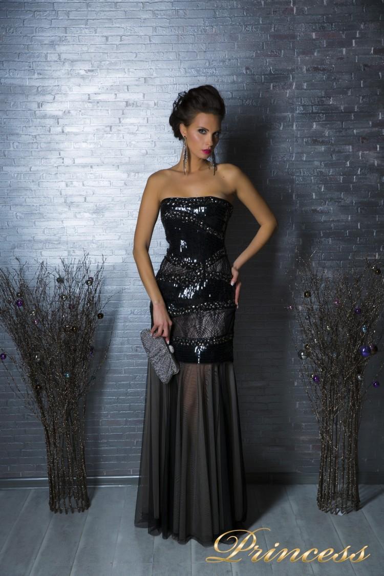Вечернее платье 8658 чёрного цвета