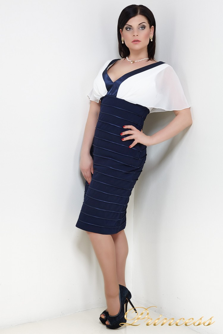 Вечернее платье 188N синего цвета
