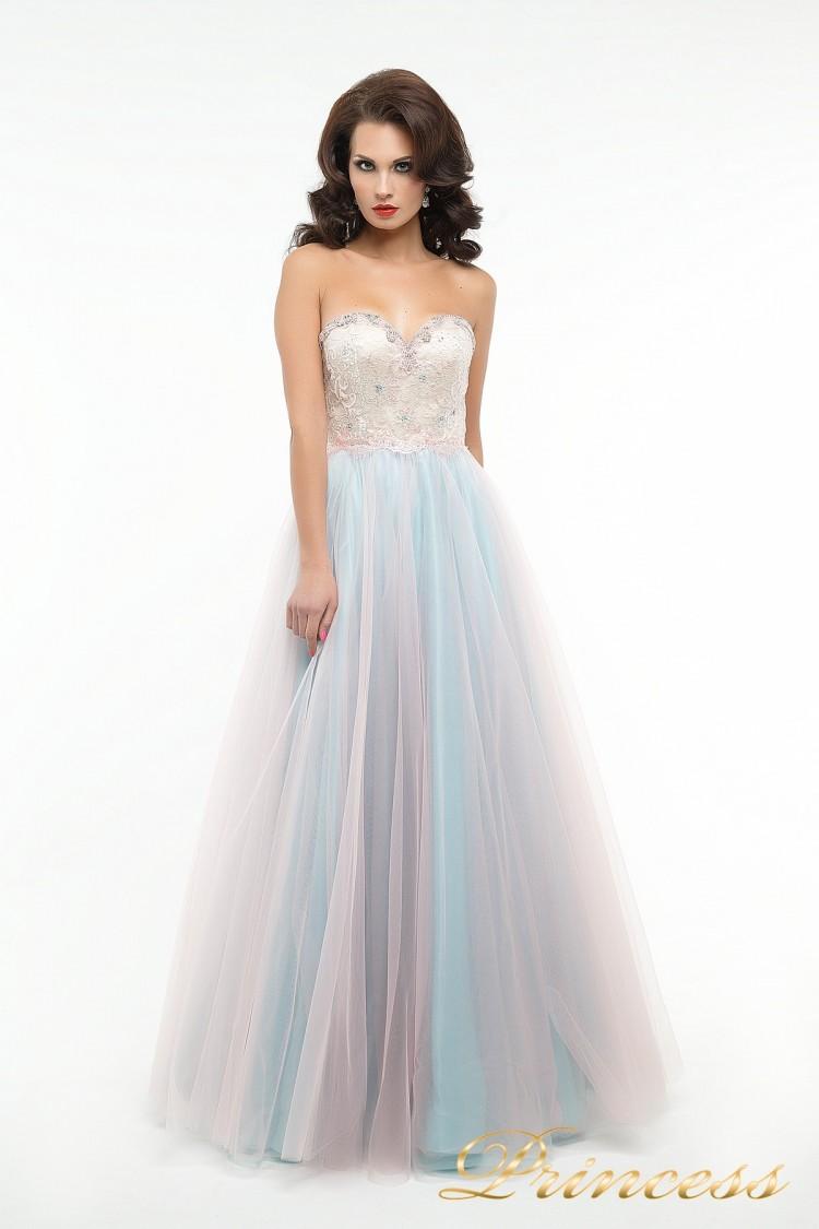 Вечернее платье пышное 194 цветного цвета