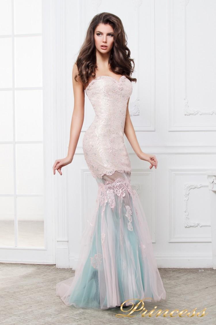 Вечернее платье 195 золотого цвета