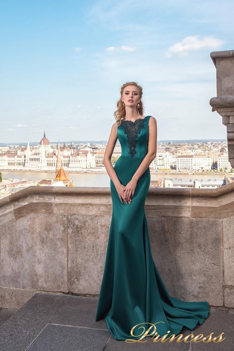 Вечернее платье 7038 зеленого цвета