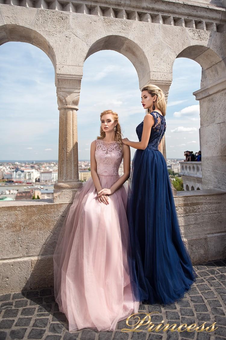 Вечернее платье 7041 розового цвета