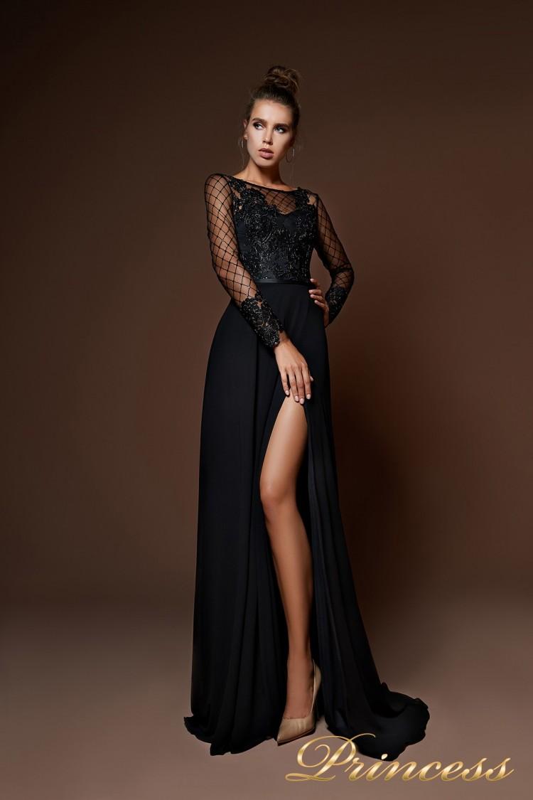 Вечернее платье 9059 чёрного цвета