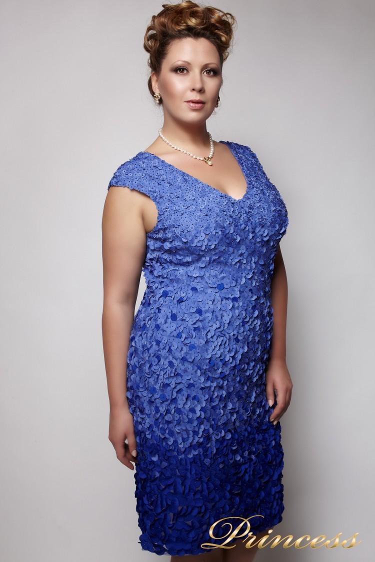 Вечернее платье 2010 синего цвета