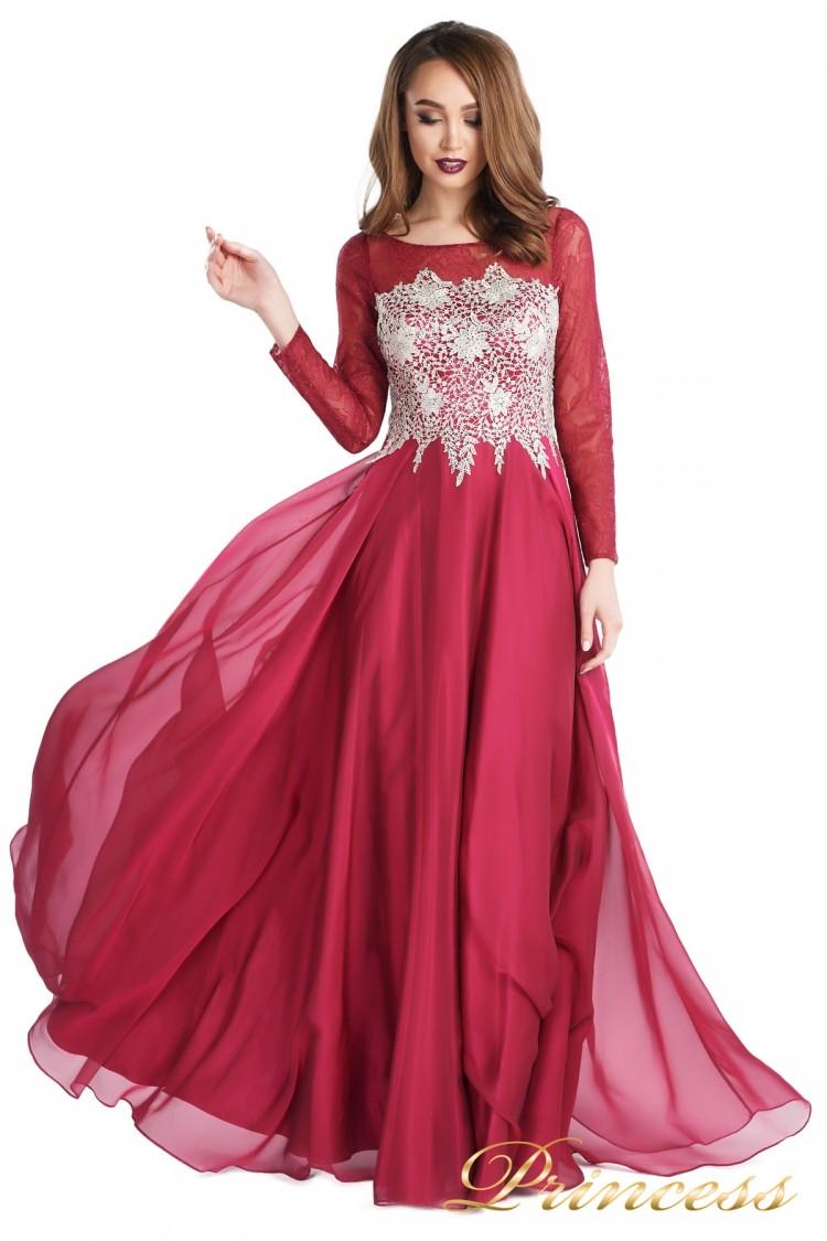 Вечернее платье 20245-052 marsala красного цвета