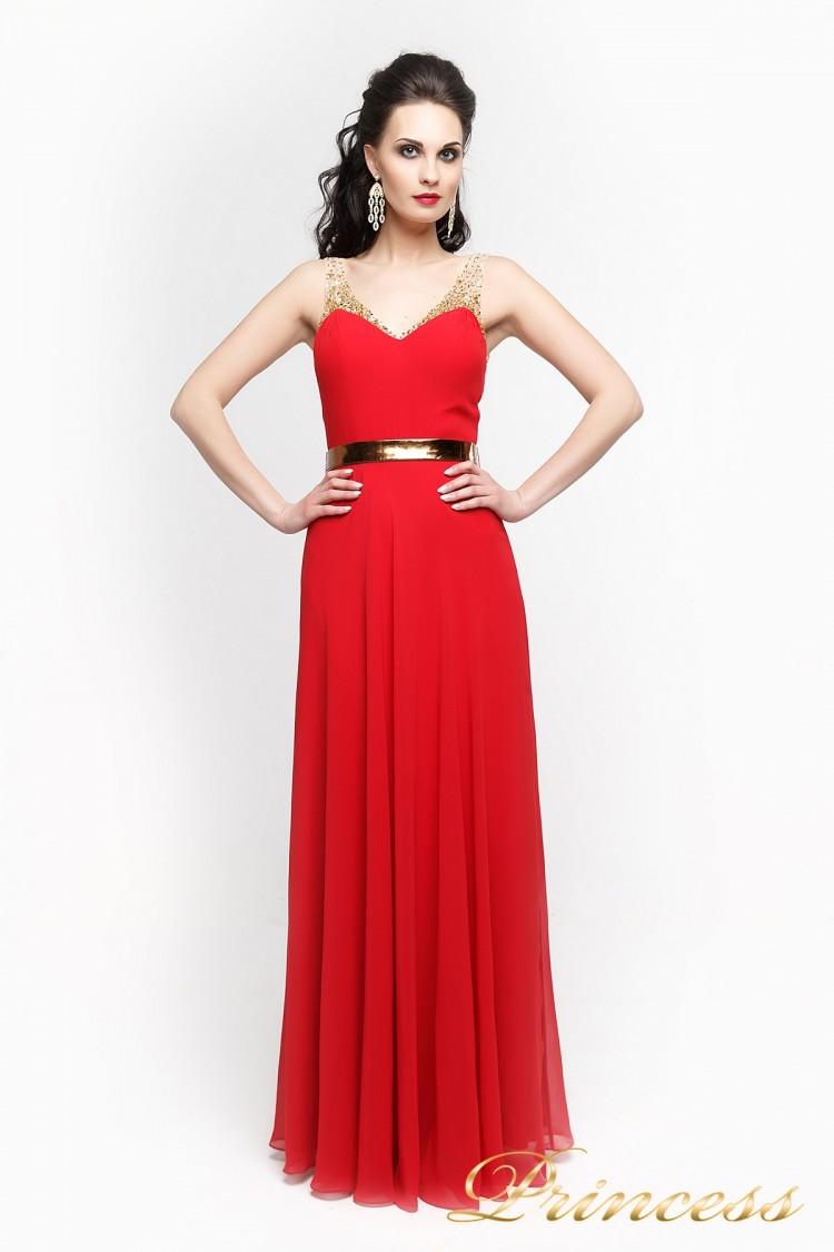Вечернее платье 2088R красного цвета