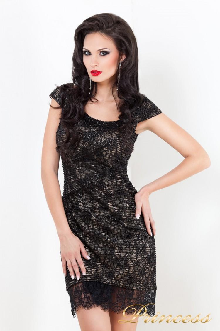 Коктейльное платье 212046 чёрного цвета