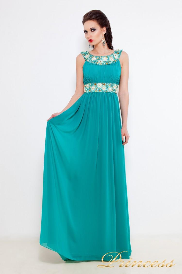 Вечернее платье 213127 G зеленого цвета