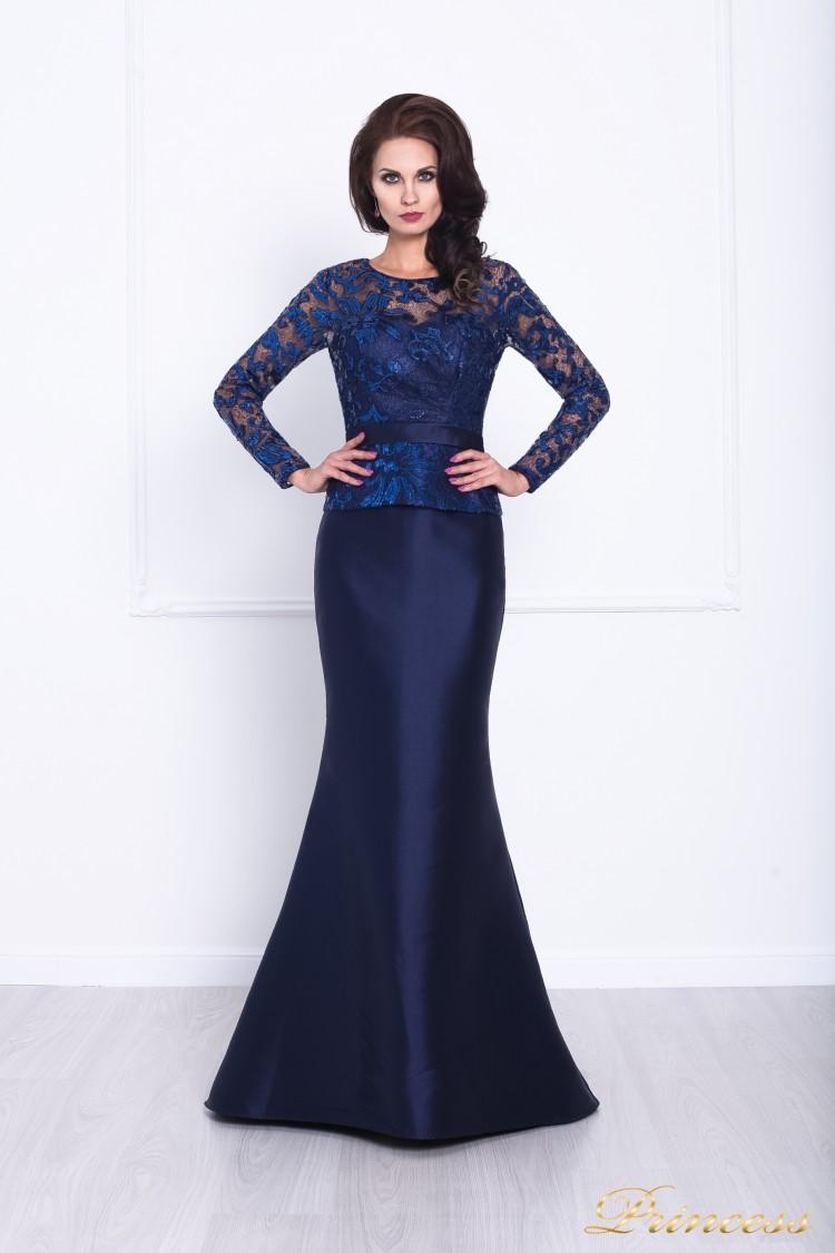 Вечернее платье 215012 синего цвета