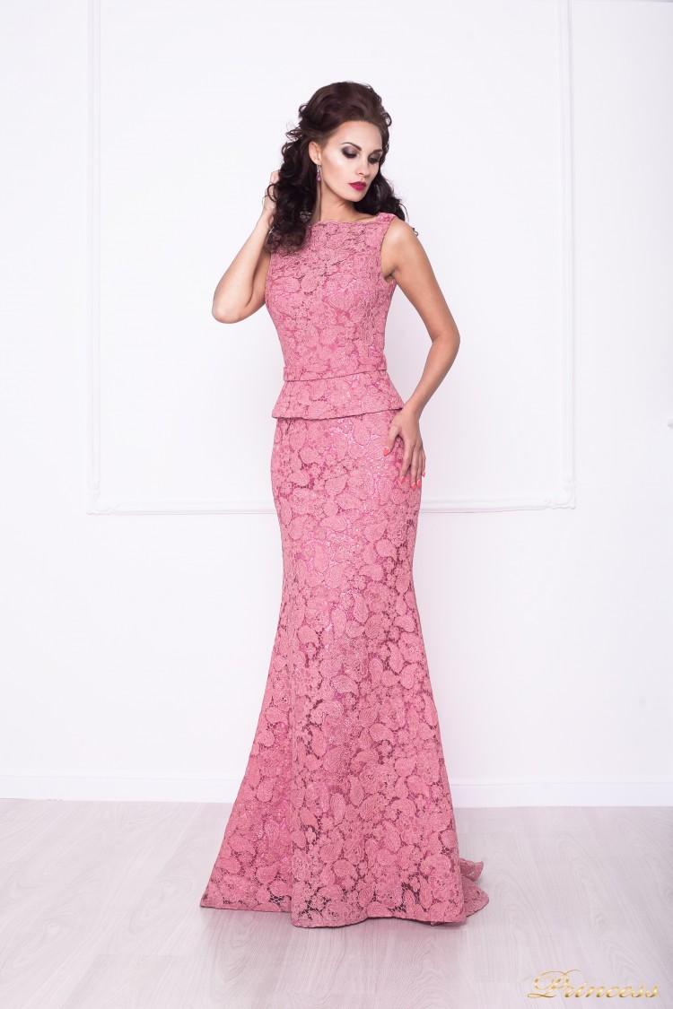 Вечернее платье 216015 розового цвета