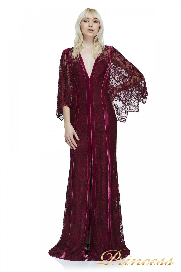 Вечернее платье Tadashi Shoji AZU17680L WINE . Цвет wine