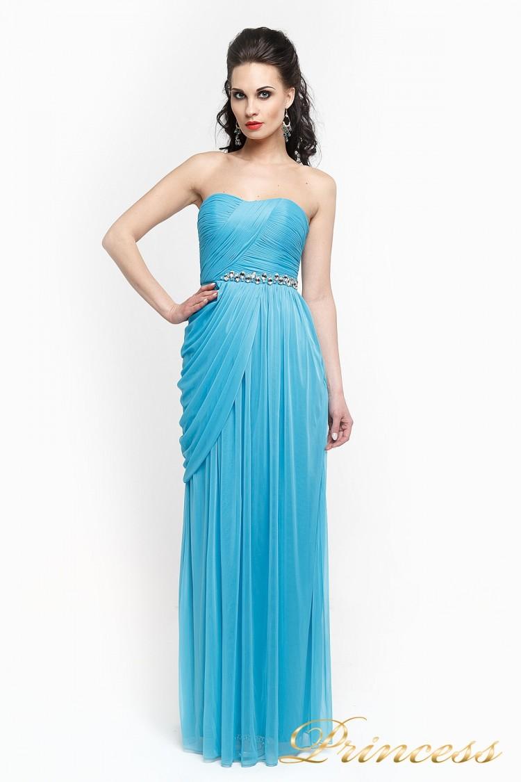 Вечернее платье 222 голубого цвета