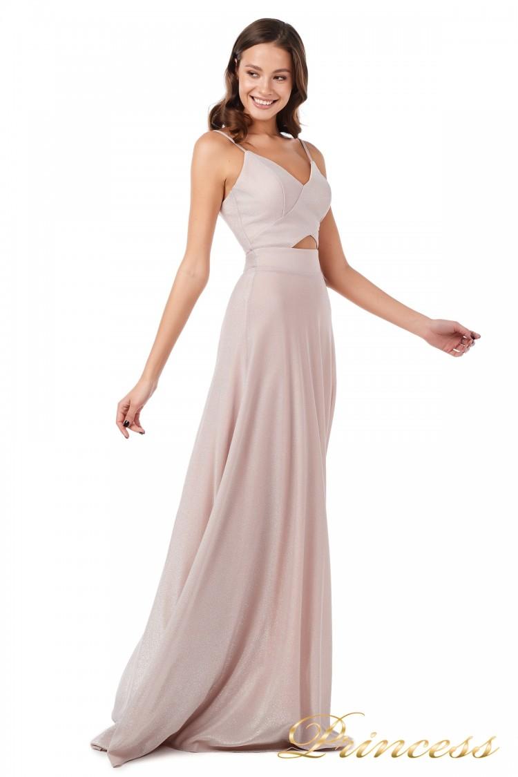 Вечернее платье 227503 ds розового цвета