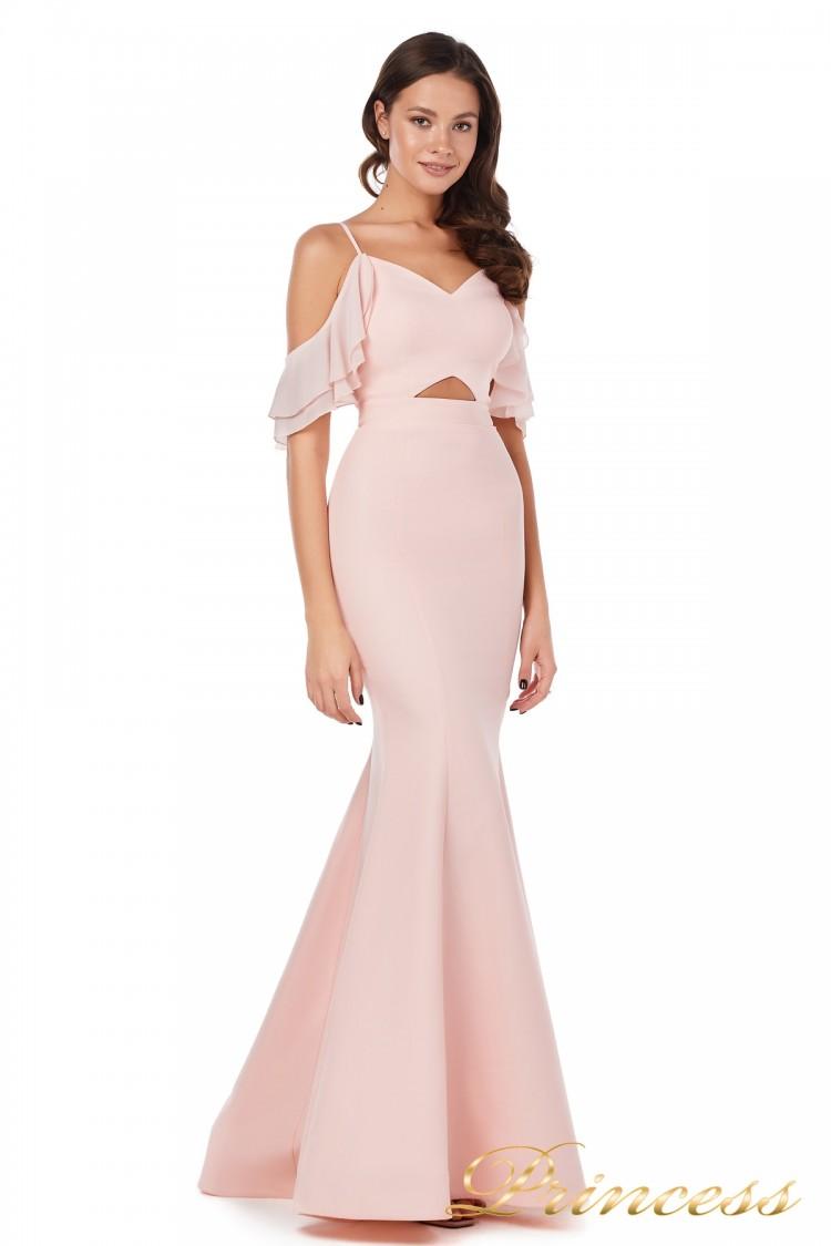 Вечернее платье 227586 pink пастеого цвета