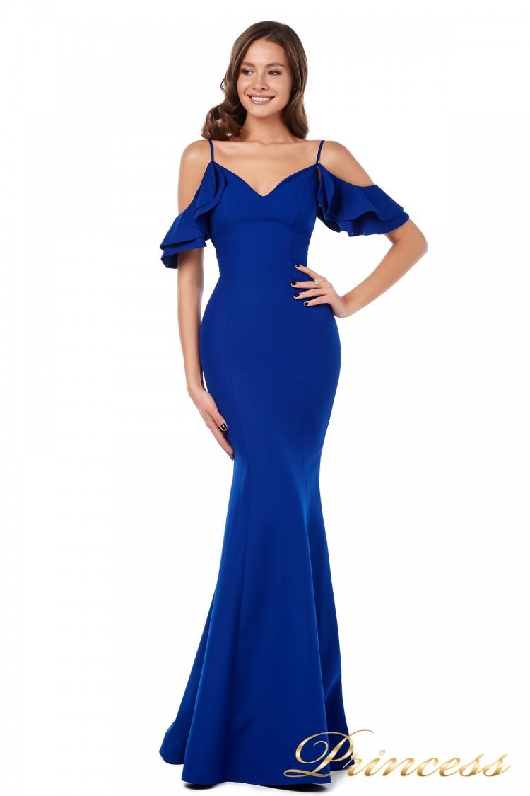 Вечернее платье 227586 royal синего цвета