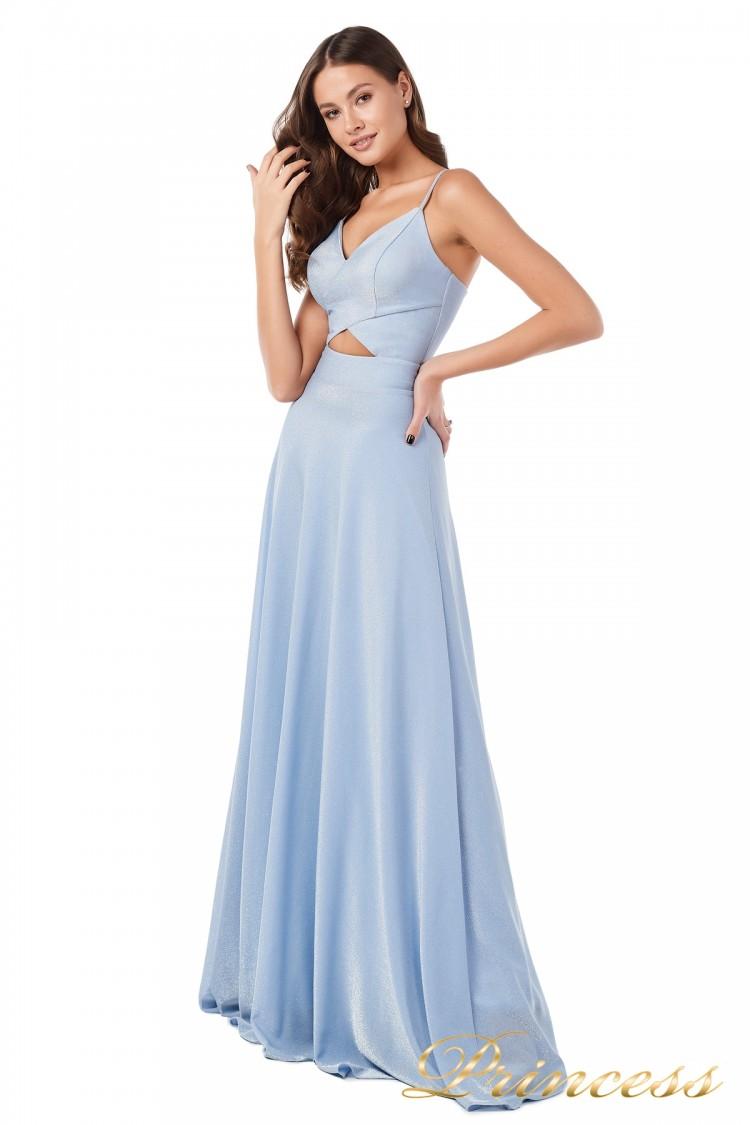 Вечернее платье 227503 b голубого цвета