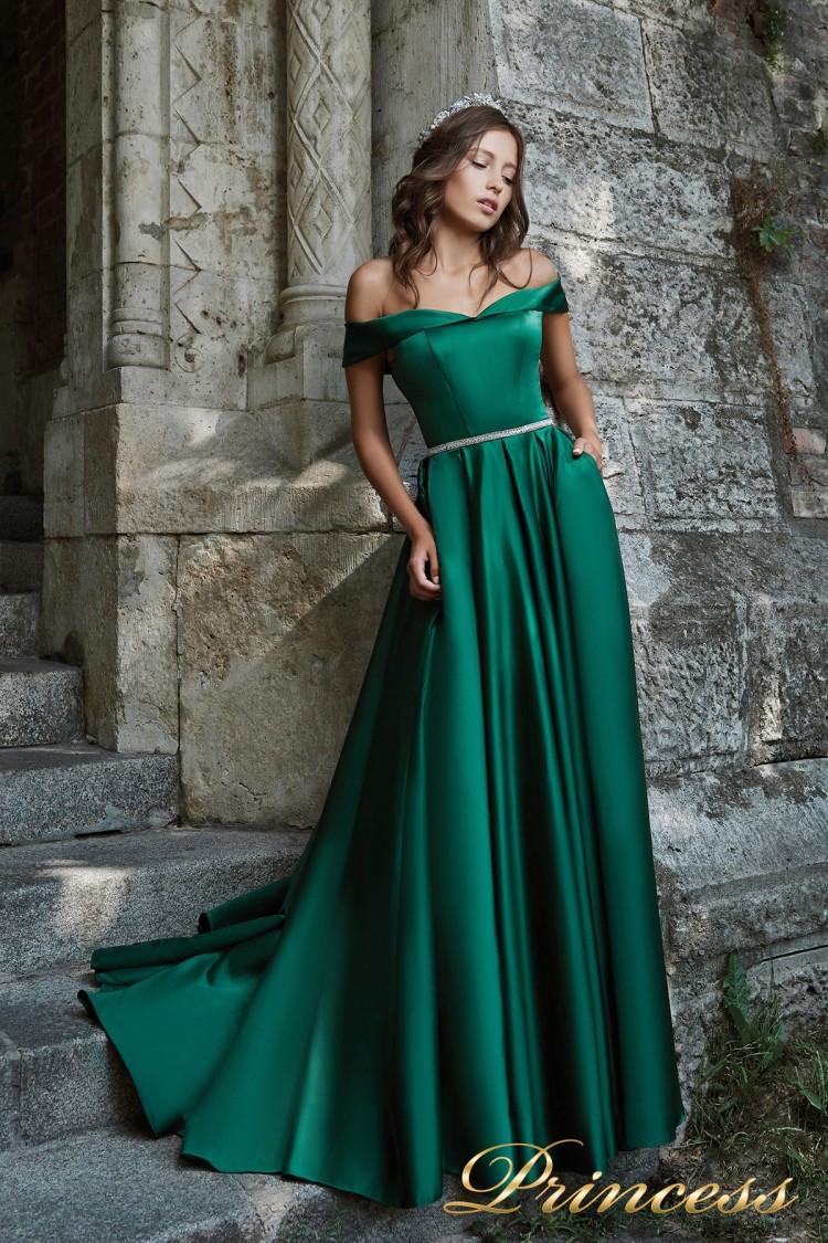 Вечернее платье 29231 G зеленого цвета