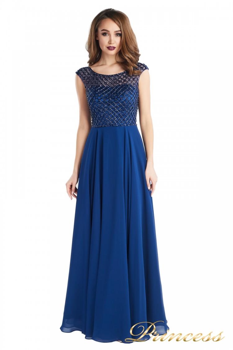 Вечернее платье 24166-240B navy синего цвета