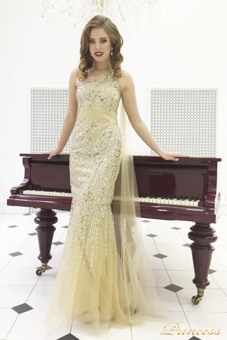 Вечернее платье 264 золотого цвета